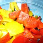 Gewürfelte Paprika