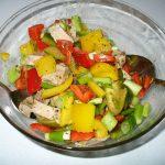 Fertiger Salat (noch ohne Couscous)