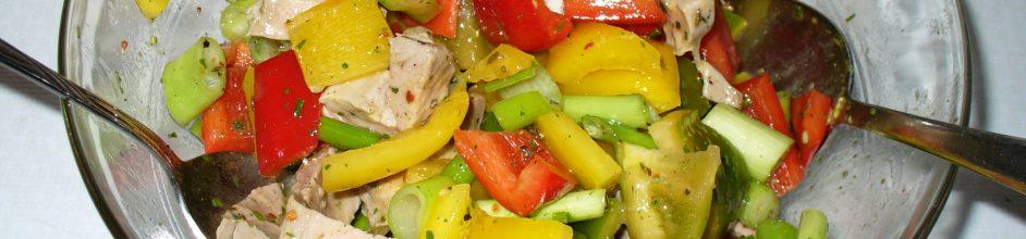 Paprika-Schweinefleisch-Salat mit Couscous