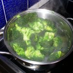Broccoli am kochen
