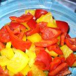 In Stücke geschnittene Paprika