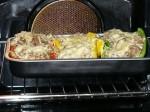Die gefüllten Paprika im Ofen